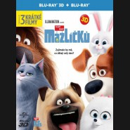 TAJNÝ ŽIVOT MAZLÍČKŮ (The Secret Life of Pets) Blu-ray 3D + 2D STEELBOOK