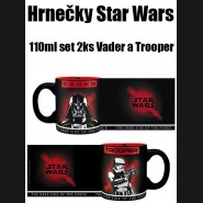 Hrnečky Star Wars 110ml set 2ks Vader a Trooper