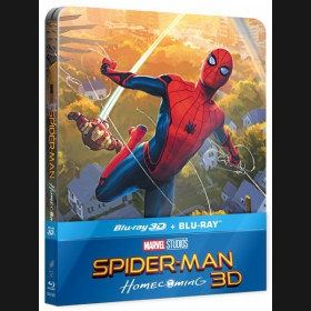 SPIDER-MAN: HOMECOMING Blu-ray 3D + 2D STEELBOOK