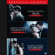 PADESÁT ODSTÍNŮ (FIFTY SHADES) Kompletní kolekce 2018 (3 DVD)