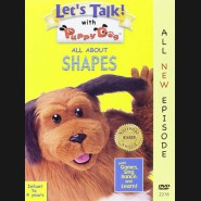 Let's Talk With puppy dog- All  about shapes DVD