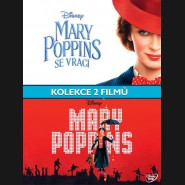 Mary Poppins kolekce (Mary Poppins (1964) + Mary Poppins Returns (2018) 3xDVD