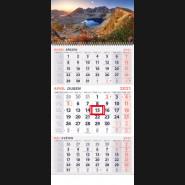Nástenný kalendár TROJMESAČNÝ 2021 - Hory